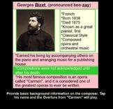 CARMEN - Overture - Bizet: Smartboard~ ti tika~ interactive