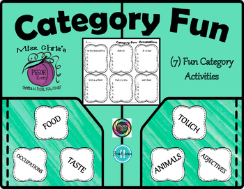 ~CATEGORIES~  (7) Fun Activities  Great for Thought Organi