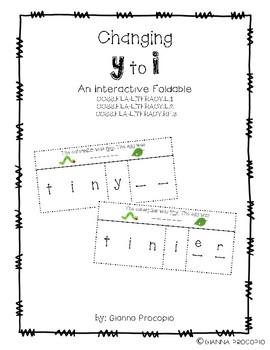 {CCSS.ELA.L.1}{CCSS.ELA.L.2}{CCSS.ELA.RF.3} Changing Y to I Interactive Foldable