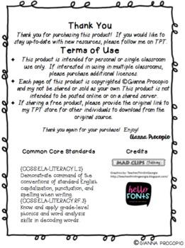 {CCSS.ELA-LITERACY.L.2} {CCSS.ELA-LITERACY.RF.3} INB Spelling Bundle