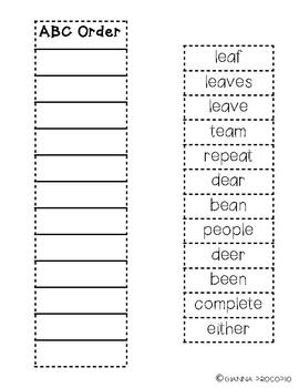 {CCSS.ELA-LITERACY.L.2} {CCSS.ELA-LITERACY.RF.3} Spelling List 26-INB Activities
