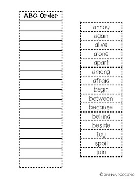 {CCSS.ELA-LITERACY.L.2} {CCSS.ELA-LITERACY.RF.3} Spelling List 9- INB Activities