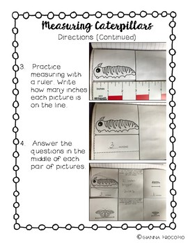 {CCSS.MATH.CONTENT.MD} CATERPILLARS- Interactive Notebook Math Pack