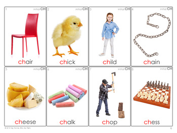*/CH/ Articulation 60 Photo Flash Cards : Speech Therapy