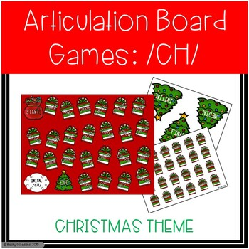 /CH/ Articulation Board Games - Christmas Theme