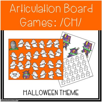 /CH/ Articulation Board Games - Halloween Theme
