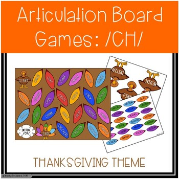 /CH/ Articulation Board Games - Thanksgiving Theme