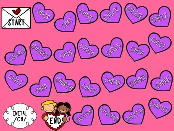 /CH/ Articulation Board Games - Valentine's Day Theme
