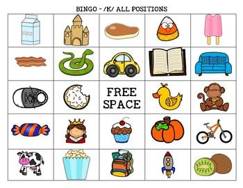 /K/ Bingo Board