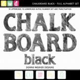 Alphabet CHALKBOARD BLACK Letters Numbers Printable Clip Art