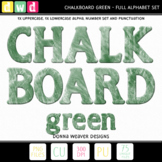 Alphabet CHALKBOARD GREEN Letters Numbers Printable Clip Art