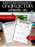 *Differentiated CHARACTER CHECK-IN*: Proving Traits Using