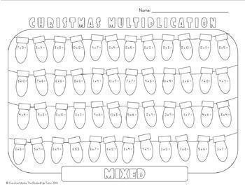{MULTIPLICATION CHRISTMAS} {MULTIPLICATION FACTS PRACTICE}