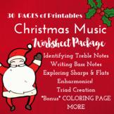 *CHRISTMAS* Music Worksheets