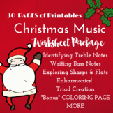 *CHRISTMAS* Music Worksheets