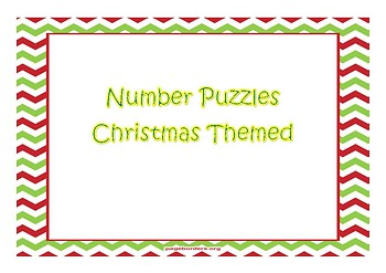 **CHRISTMAS** Number Puzzles Christmas Themed