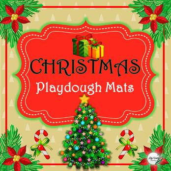 """""""CHRISTMAS Playdough Mats"""" by LilyVale Learning"""