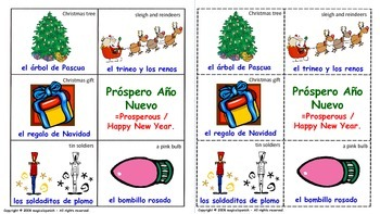 """Christmas Vocabulary"". Lottery (Board Game)."