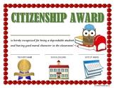 """CITIZENSHIP AWARD"" for Primary School Kids!  CLASSROOM AWARD SERIES!"