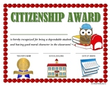 """""""CITIZENSHIP AWARD"""" for Primary School Kids!  CLASSROOM AW"""