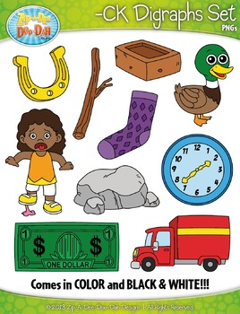 -CK Digraphs Words Clipart Set — Includes 20 Graphics!