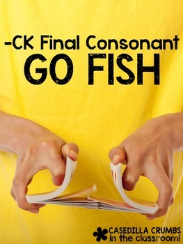 -CK Final Consonant Go Fish Game