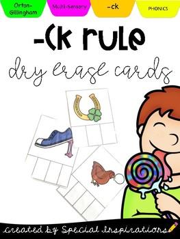 - CK Rule Dry Erase Cards