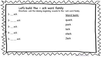 -CK word work (no prep)