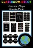 CLASSROOM DECOR - Bundle Pack (Rainbow Flags) EDITABLE