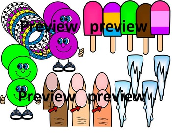 FINAL STABLE SYLLABLES -CLE ENDING WORDS CLIP ART