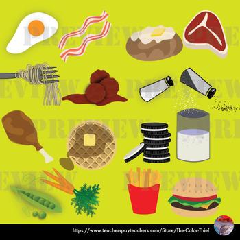 [CLIP ART] Food Pairs - 80 original PNG files