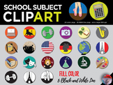 School Subject Clip Art - 40 original PNGs