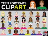 [CLIP ART] Teenage Portraits - 30 Original PNG Files