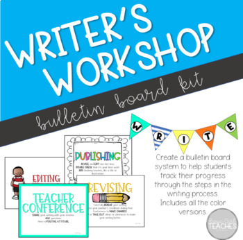 **COLOR** Writing Process Bulletin Board Kit
