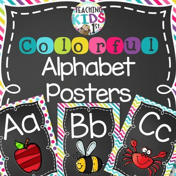 {COLORFUL} Alphabet Posters with pictures