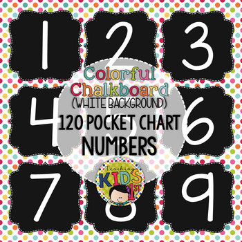 {COLORFUL CHALKBOARD} 120 Pocket Chart Numbers