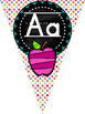 {COLORFUL CHALKBOARD} Alphabet Pennants with pictures