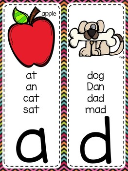 {COLORFUL CHALKBOARD} Alphabet & Phonics Cards