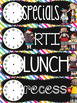 {COLORFUL} EDITABLE Class Schedule