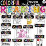 {COLORFUL} Journeys 2nd Grade Focus Wall Set