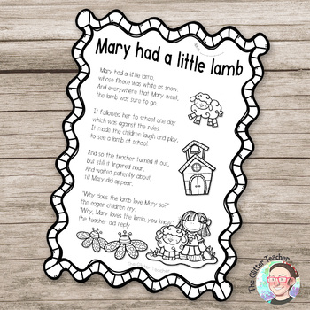 [COLOURING SHEET] Nursery Rhymes