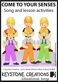 'COME TO YOUR SENSES'  (Pre K-3)~MP3 Song & Lesson Materials l Distance Learning