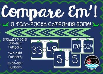 """COMPARE 'em"" ~ GAME Comparing 1-digit, 2-digit, & 3-digit Numbers"