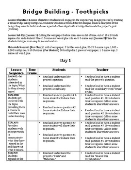 4 - Day Lesson Sequence: STEM Engineering Challenge - Bridges