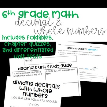 **COMPLETE** Decimal + Whole Number Operations Unit