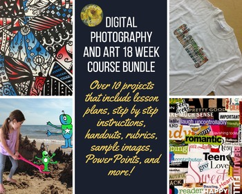 *ONE SEMESTER COURSE BUNDLE* DIGITAL PHOTOGRAPHY/ART--OVER 10 PROJECTS!