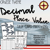 {CRUISE THEME} Decimal Place Value Anchor Task Card Matching