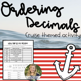 {CRUISE THEME} Ordering Decimals Task