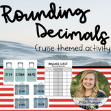 {CRUISE THEME} Rounding Decimals Task Card (GREAT Center to Pair with SFUSD)