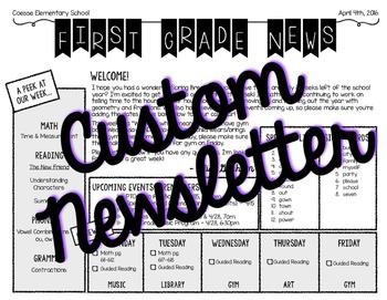 *CUSTOM* Newsletter Template